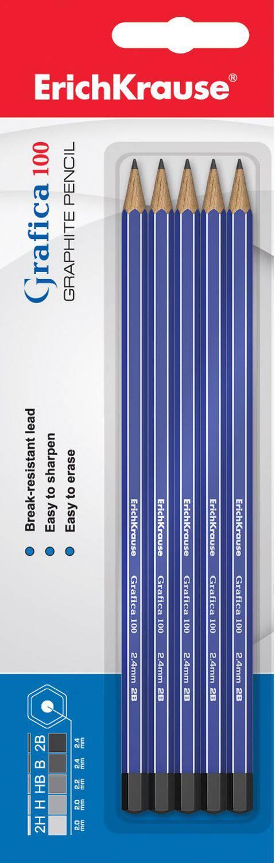 Чернографитные карандаши Grafica 100, 5 шт.Карандаши<br>Чернографитные карандаши Grafica 100, 5 шт.<br>