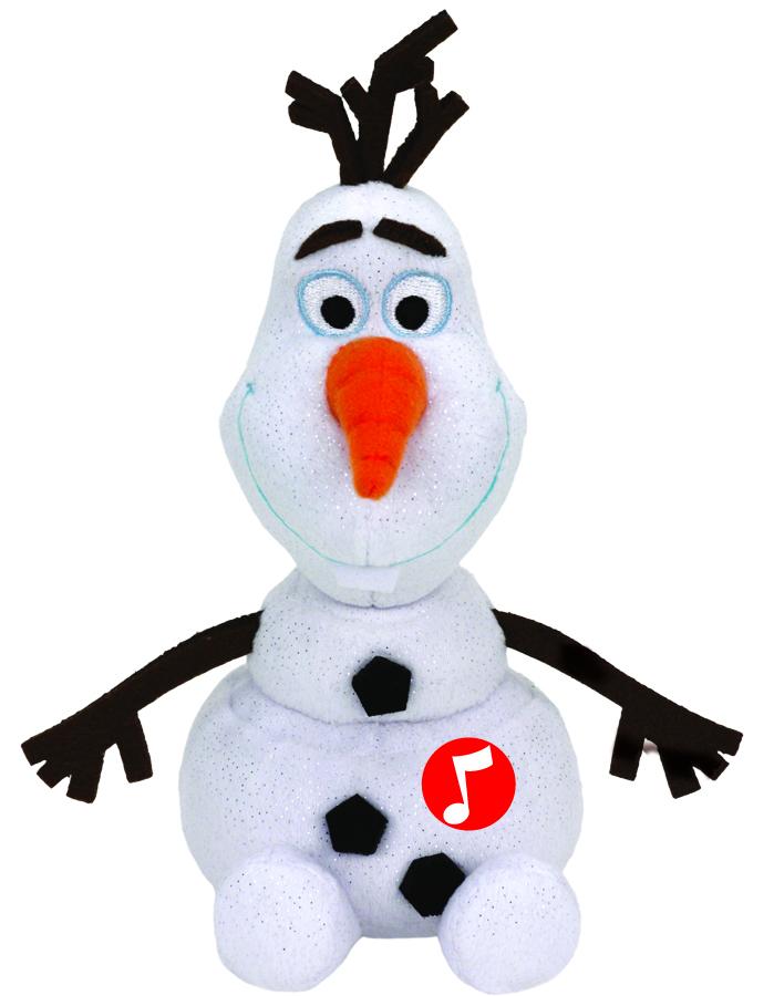 Озвученная мягкая игрушка Disney Beanie Babies - Cнеговик Olaf, 20 смГоворящие игрушки<br>Озвученная мягкая игрушка Disney Beanie Babies - Cнеговик Olaf, 20 см<br>