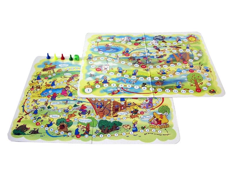 Настольная игра - Ходилки 2 в 1 серии Гуси-лебеди, Баба ЯгаДля самых маленьких<br>Настольная игра - Ходилки 2 в 1 серии Гуси-лебеди, Баба Яга<br>