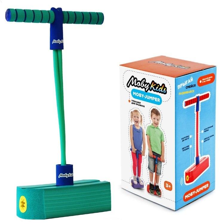 Купить Тренажер для прыжков со звуком MobyJumper, цвет аквамарин, Moby Kids
