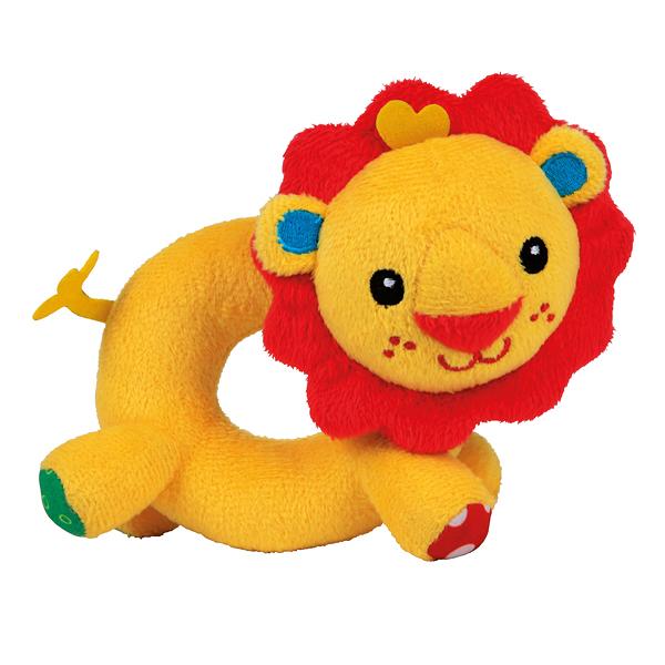 Погремушка-кольцо ЛьвенокДетские погремушки и подвесные игрушки на кроватку<br>Погремушка-кольцо Львенок<br>