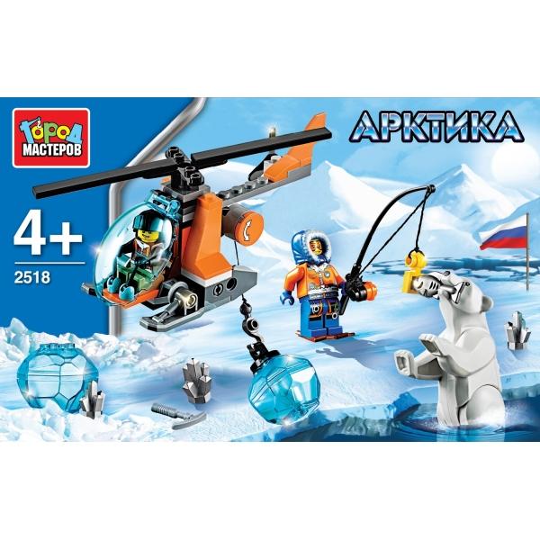 Купить Конструктор из серии Арктика: Вертолет, 85 деталей, Город мастеров