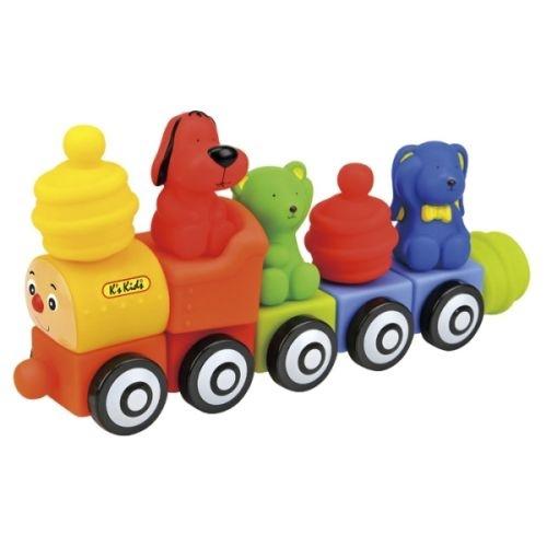 Конструктор мягкий - Поезд друзейРазвивающие игрушки K-Magic от KS Kids<br>Конструктор мягкий - Поезд друзей<br>