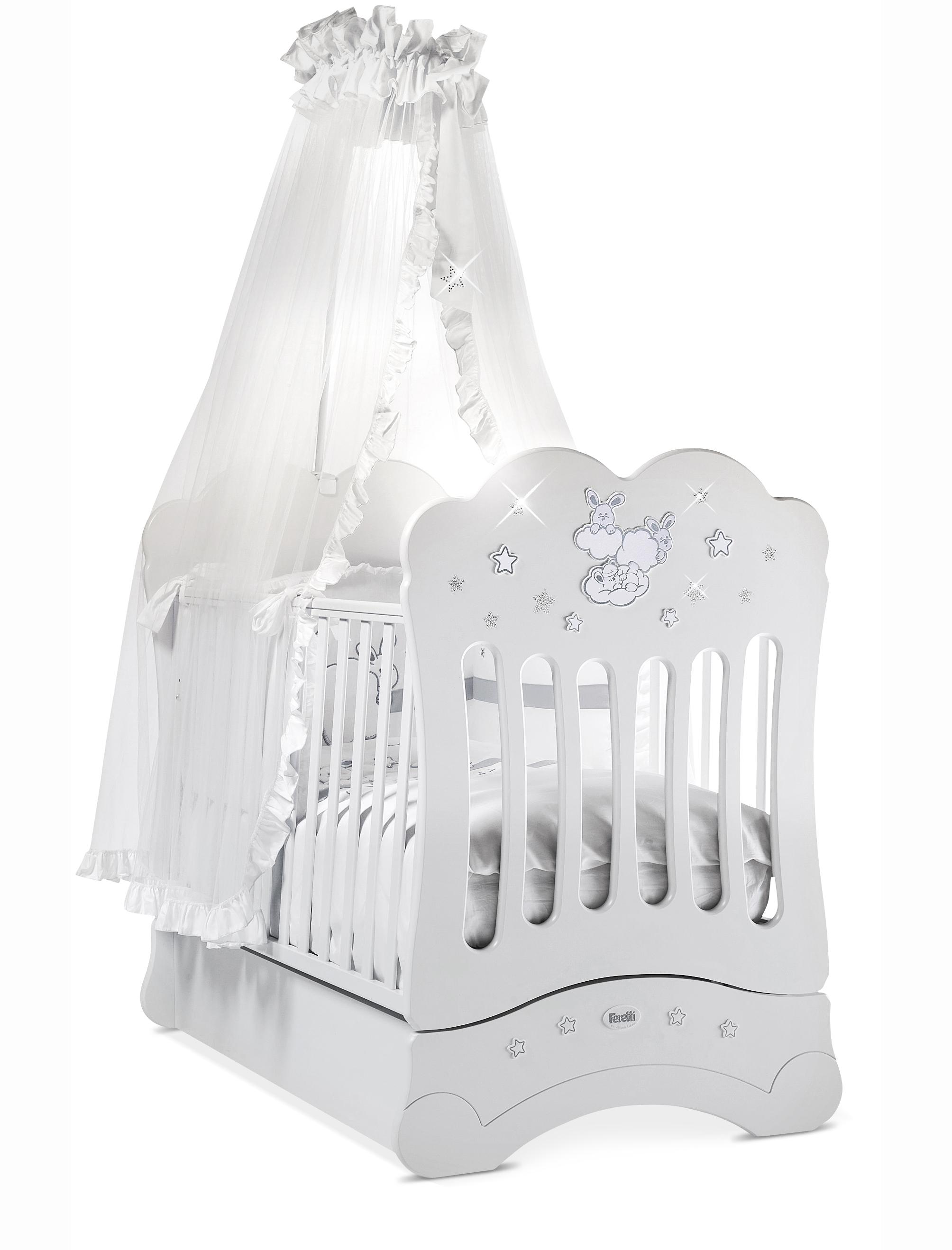 Кровать детская Feretti Fms Etoile Bianco/WhiteДетские кровати и мягкая мебель<br>Кровать детская Feretti Fms Etoile Bianco/White<br>