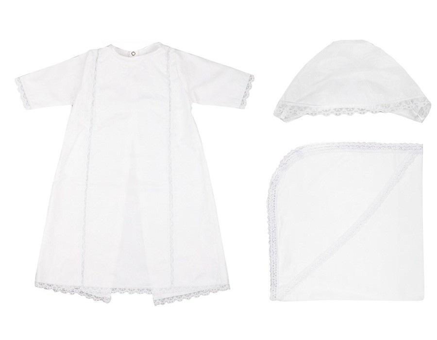 Крестильный набор для мальчика – Ангел, 0-6 месяцев, белый от Toyway