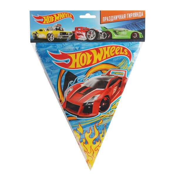 Праздничная гирлянда – флаги, дизайн Хот Вилс, 3 метраHot Wheels<br>Праздничная гирлянда – флаги, дизайн Хот Вилс, 3 метра<br>