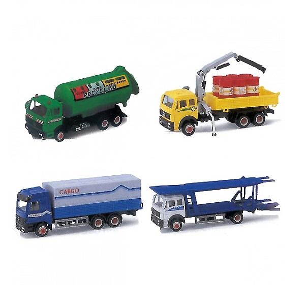 Металлическая модель грузовика 15 см., 16 видовГрузовики/самосвалы<br>Металлическая модель грузовика 15 см., 16 видов<br>