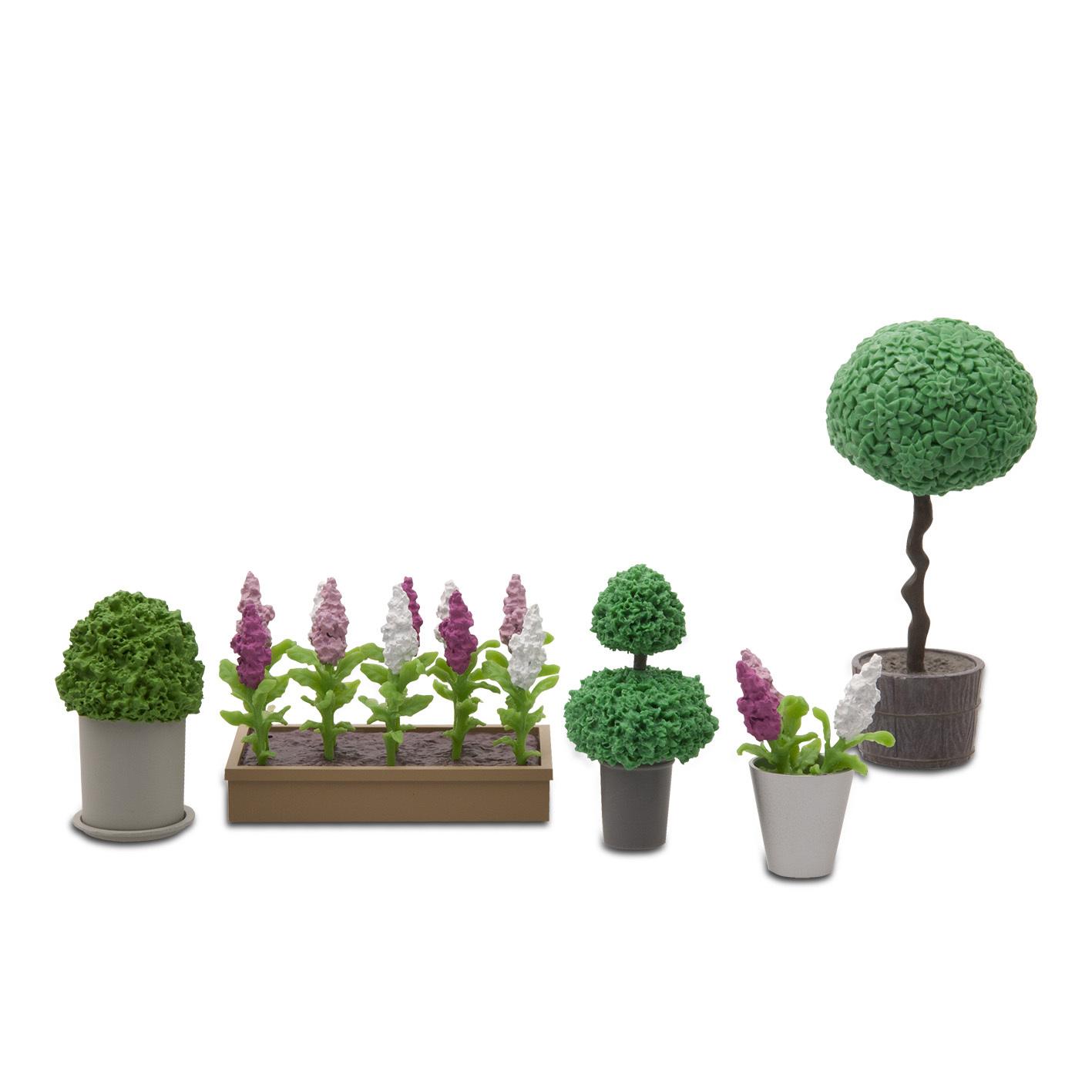 Аксессуары для домика Стокгольм - Цветы в горшках фото
