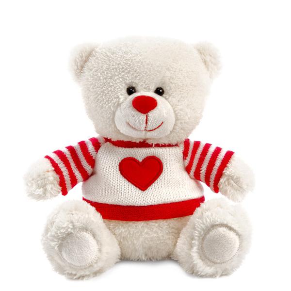 Мягкая игрушка - Медвежонок Сэмми в свитере с сердечком, музыкальный, 18 см.Говорящие игрушки<br>Мягкая игрушка - Медвежонок Сэмми в свитере с сердечком, музыкальный, 18 см.<br>