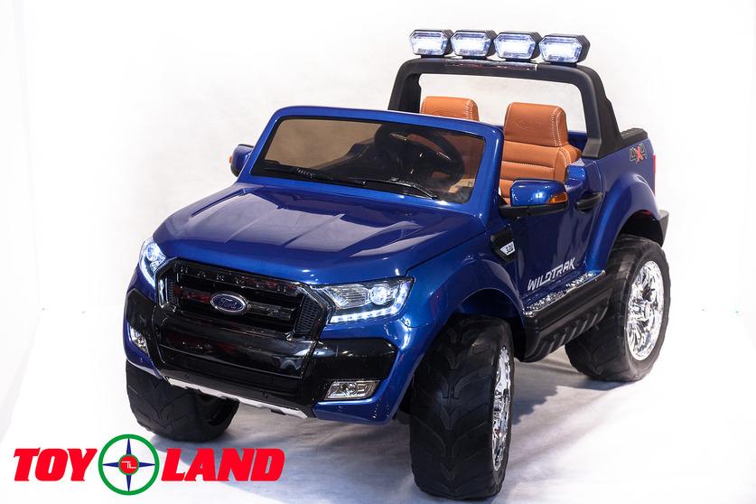 Электромобиль – Ford Ranger 2017 New 4x4, синий, свет и звукЭлектромобили, детские машины на аккумуляторе<br>Электромобиль – Ford Ranger 2017 New 4x4, синий, свет и звук<br>