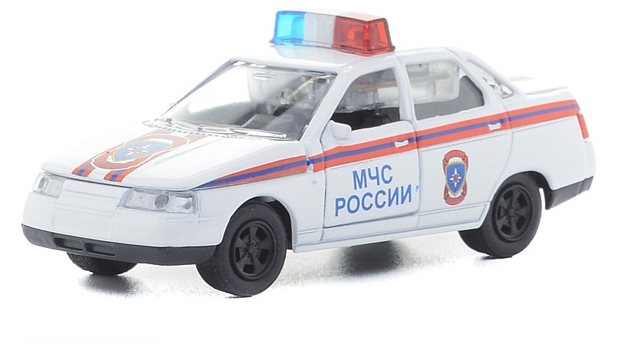Инерционная металлическая машина Lada 2110 МЧС России свет, звук 1:43Пожарная техника, машины<br>Инерционная металлическая машина Lada 2110 МЧС России свет, звук 1:43<br>