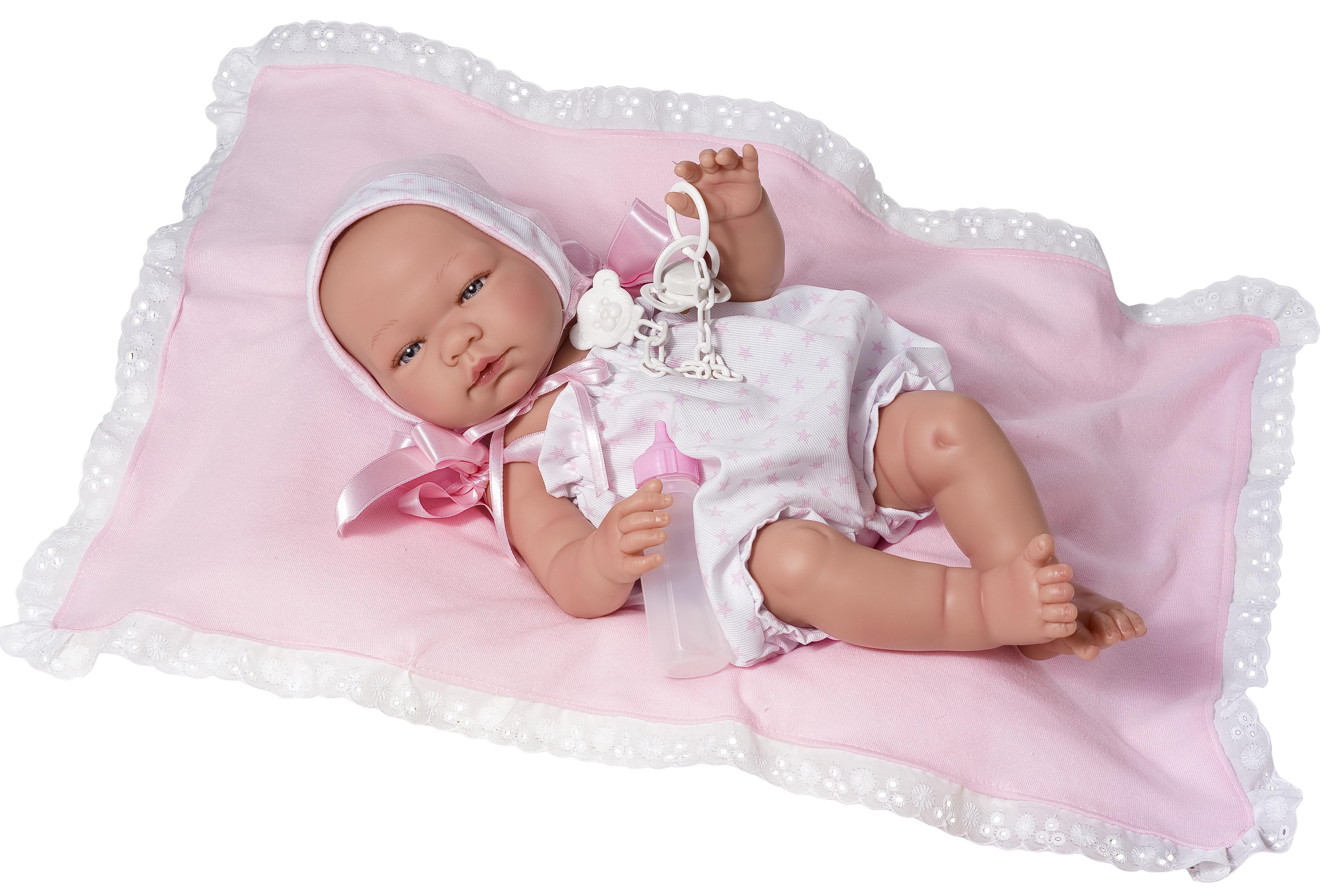 Кукла Мария в розовом костюмчике, 45 см.Куклы ASI (Испания)<br>Кукла Мария в розовом костюмчике, 45 см.<br>