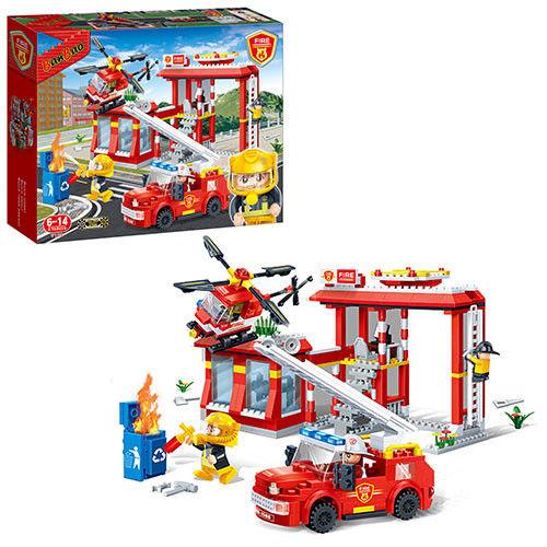 Конструктор - Пожарная станция, 505 деталейКонструкторы BANBAO<br>Конструктор - Пожарная станция, 505 деталей<br>