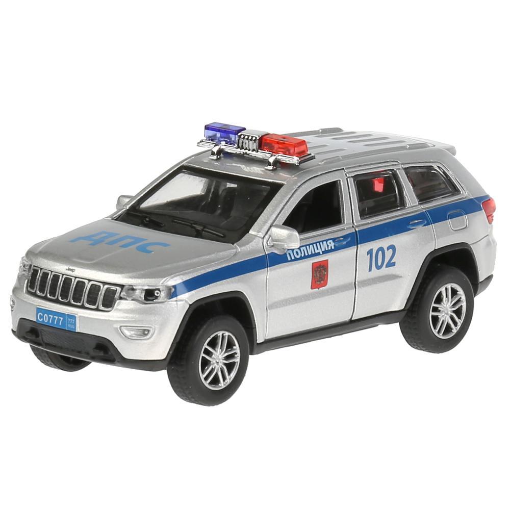 Купить Инерционный металлический Jeep Grand Cherokee – Полиция, 12 см, цвет серебро, Технопарк