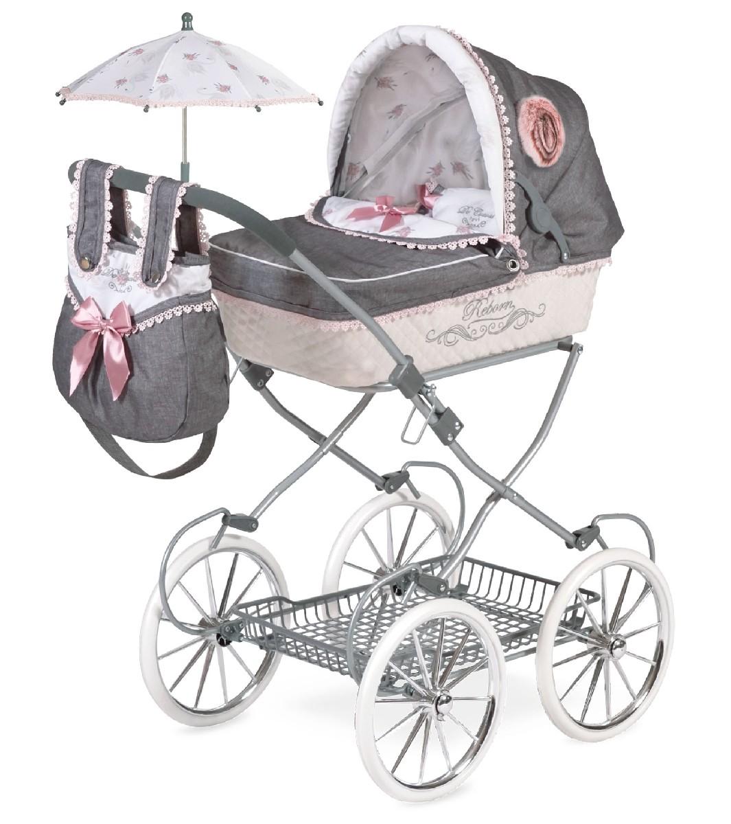 Купить Коляска с сумкой и зонтиком Реборн, 81 см., DeCuevas