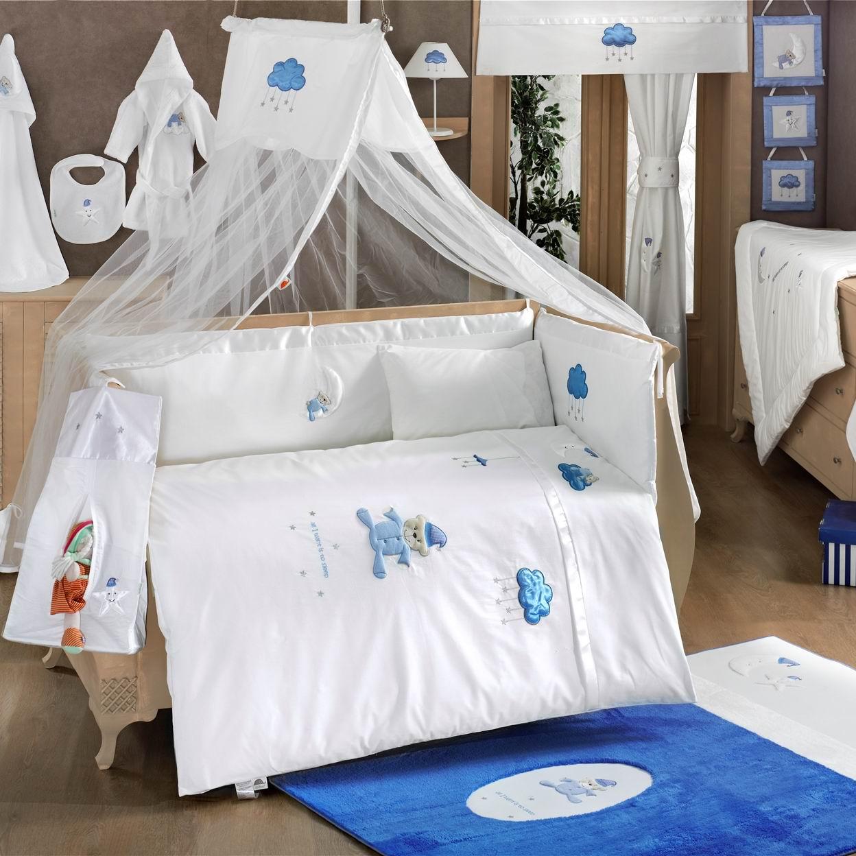Балдахин серии Teddy Boo, 150 х 450 см, синийДетское постельное белье<br>Балдахин серии Teddy Boo, 150 х 450 см, синий<br>