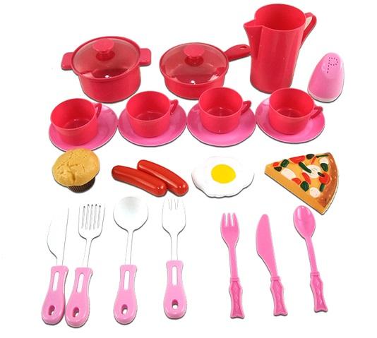 Помогаю Маме. Набор посуды для кухни, 23 предметаАксессуары и техника для детской кухни<br>Помогаю Маме. Набор посуды для кухни, 23 предмета<br>