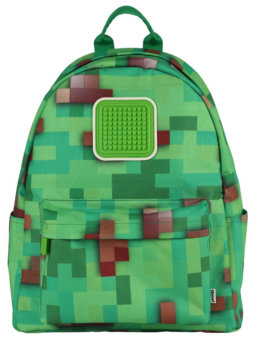 Купить Рюкзак Funny square U18-1 Майнкрафт, цвет – зеленый, Upixel