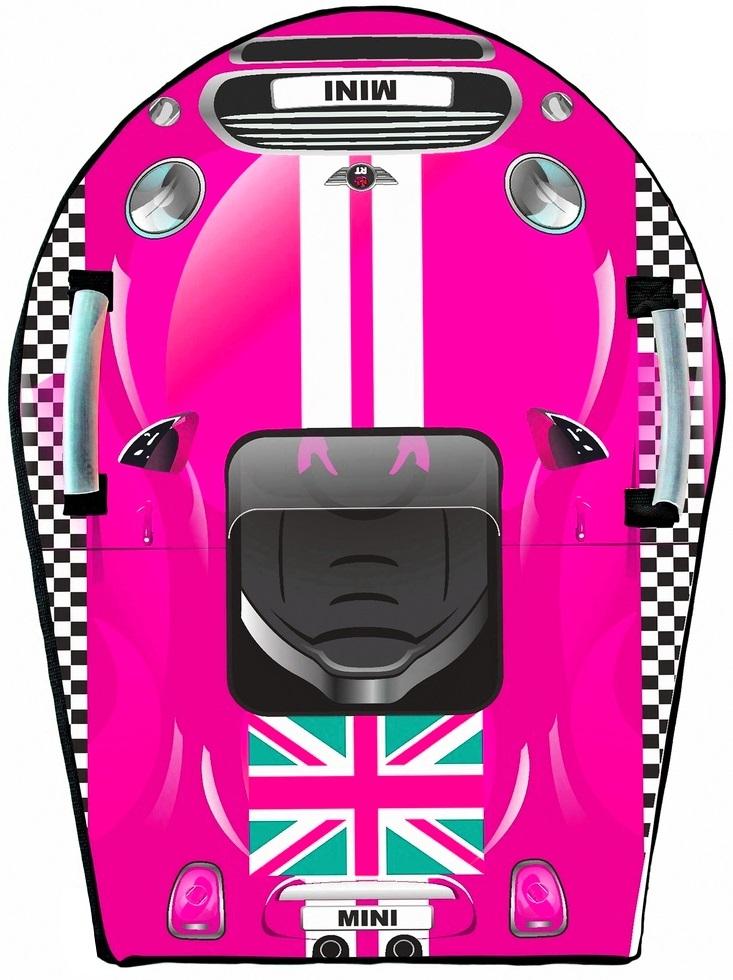 Ледянка Snow auto Mini Cooper, цвет розовый - Зимние товары, артикул: 148485