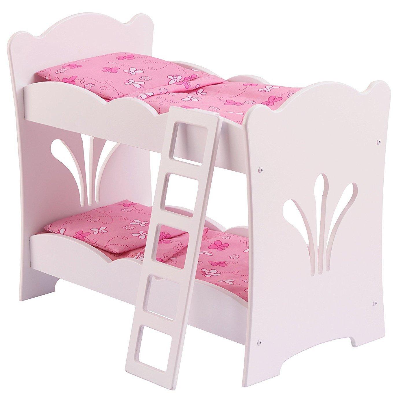 Двухъярусная кроватка - колыбель для куклыДетские кроватки для кукол<br>Двухъярусная кроватка - колыбель для куклы<br>