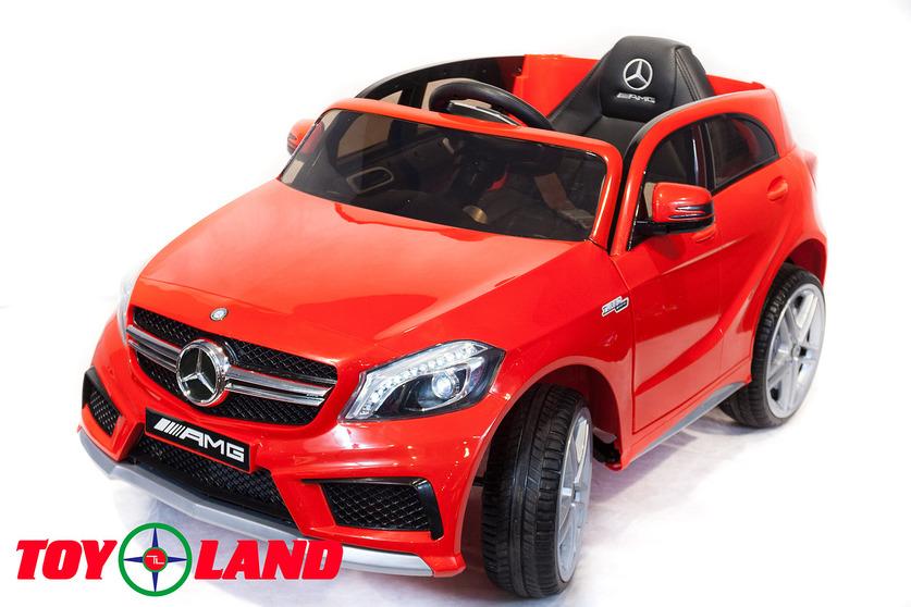 Электромобиль – Mercedes-Benz A45, красный, свет и звукЭлектромобили, детские машины на аккумуляторе<br>Электромобиль – Mercedes-Benz A45, красный, свет и звук<br>