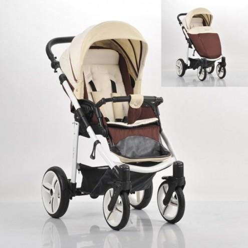 Детская прогулочная коляска Nico, шасси белая/BIA, цвет - SL214Детские прогулочные коляски<br>Детская прогулочная коляска Nico, шасси белая/BIA, цвет - SL214<br>