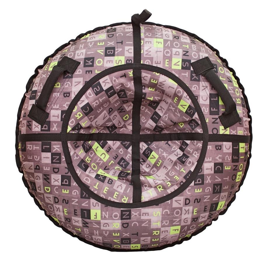 Санки надувные тюбинг дизайн - Буквы, диаметр 105 см.Ватрушки и ледянки<br>Санки надувные тюбинг дизайн - Буквы, диаметр 105 см.<br>