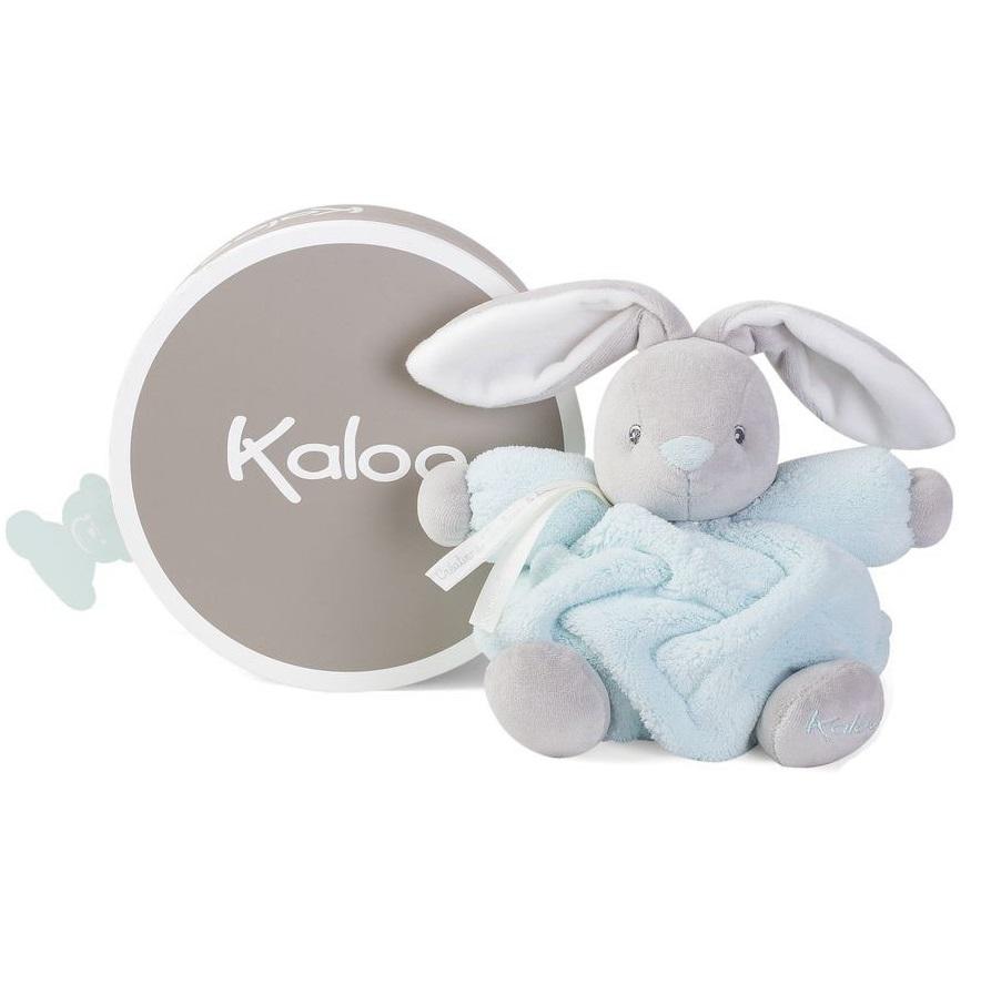 Купить Мягкая игрушка из серии Плюм - Зайчик маленький, голубой, 18 см., Kaloo