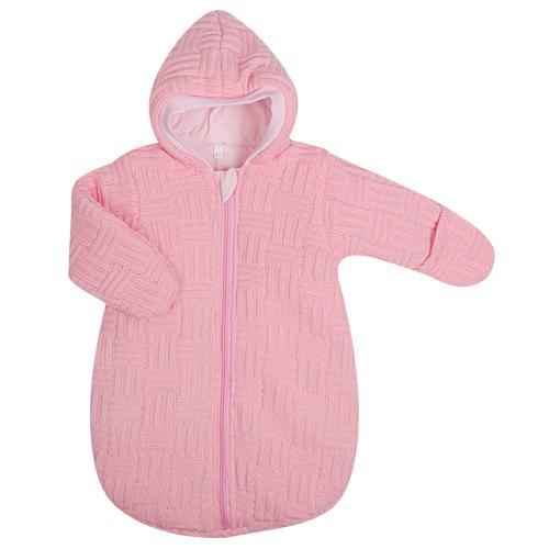Спальный вязаный мешок, розовый, 62 см