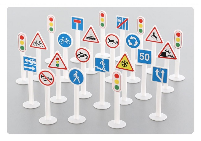 Набор дорожных знаков №3Знаки дорожного движения, светофоры<br>Набор дорожных знаков №3<br>