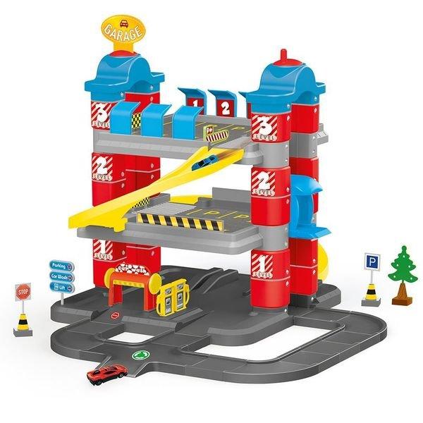 Купить Игровой набор из серии Гигант - Паркинг, 3 уровня, 2 машинки, лифт, Dolu