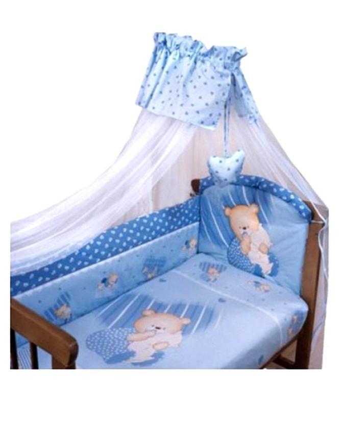 Комплект - Мишутка, голубойДетское постельное белье<br>Комплект - Мишутка, голубой<br>