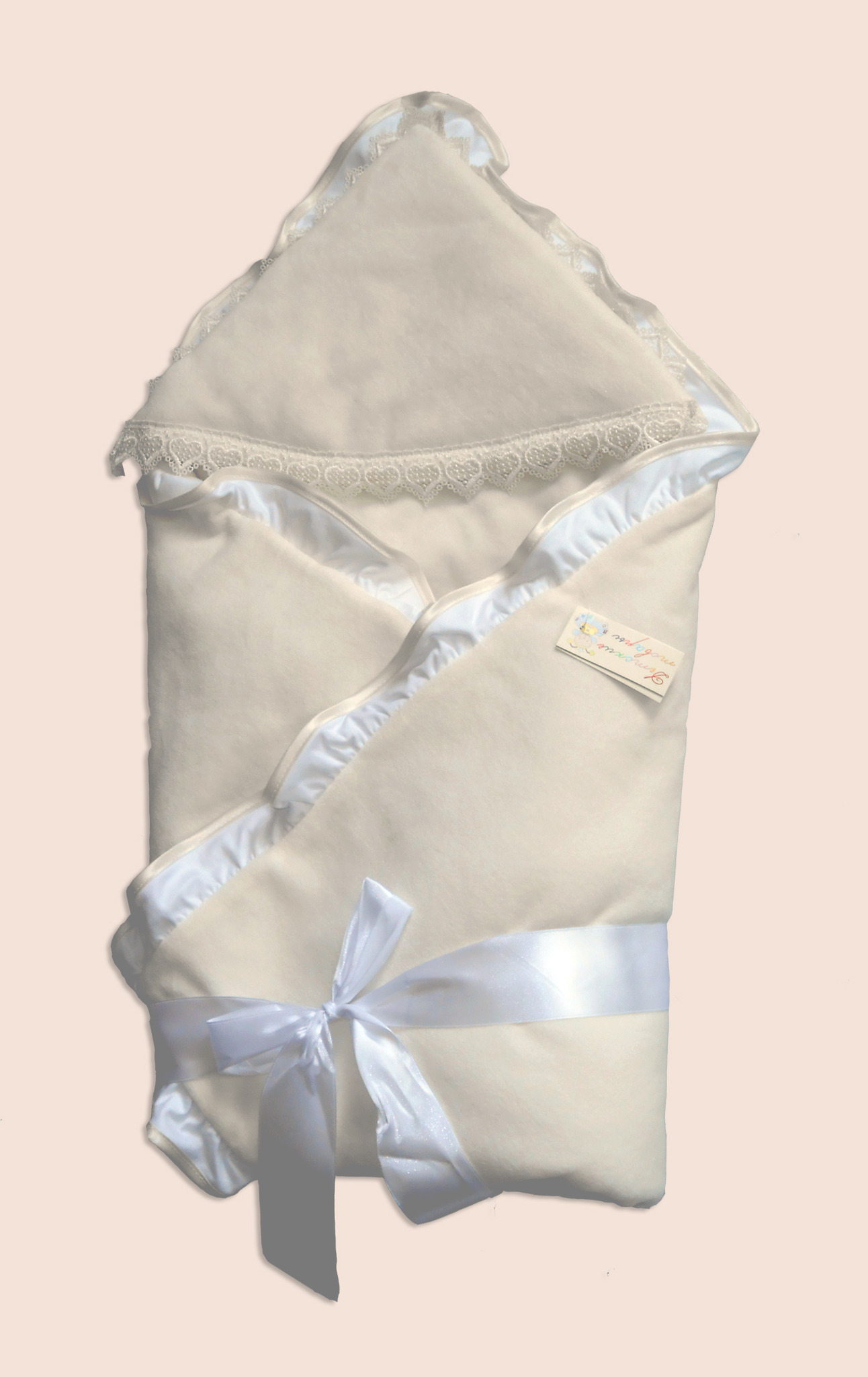 Одеяло на выписку – Малютка, велюр, бежевыйДетские Конверты<br>Одеяло на выписку – Малютка, велюр, бежевый<br>
