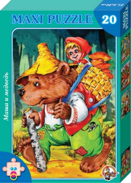 Макси-пазл «Маша и Медведь»Пазлы для малышей<br>Макси-пазл «Маша и Медведь»<br>