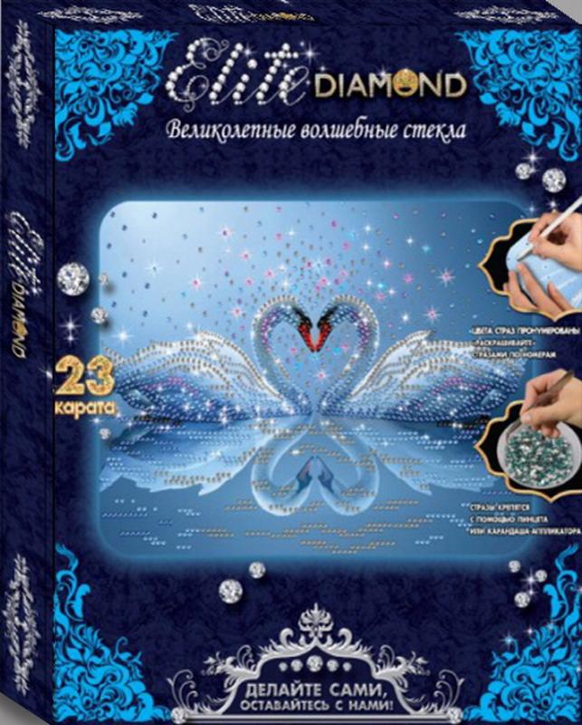 Алмазная мозаика Elite Diamond Лебединое сердце по цене 402