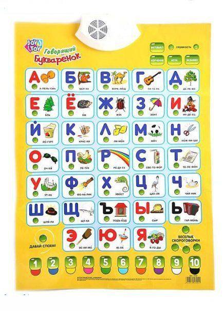 Интерактивный плакат – Говорящий БукваренокУчим буквы и цифры<br>Интерактивный плакат – Говорящий Букваренок<br>