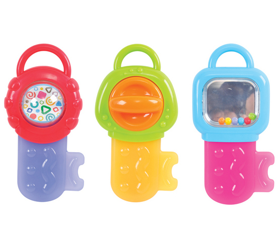 Развивающая игрушка - Ключик-прорезывательДетские погремушки и подвесные игрушки на кроватку<br>Развивающая игрушка - Ключик-прорезыватель<br>