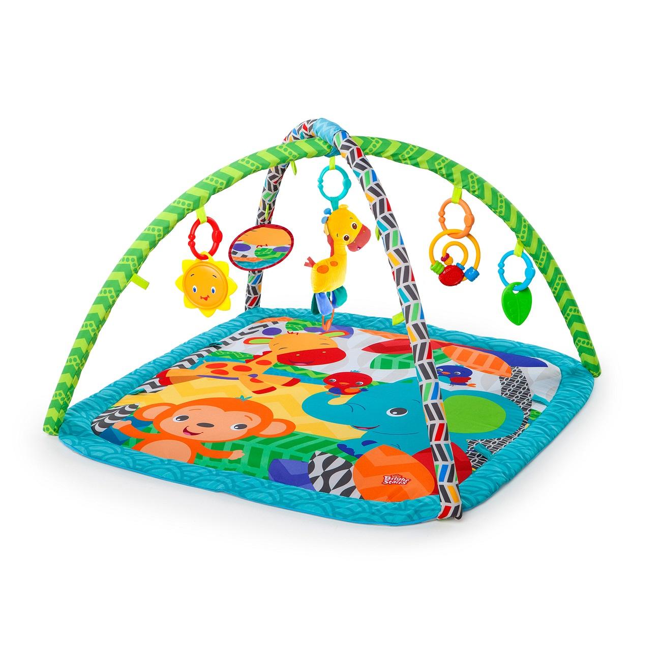 Развивающий коврик Bright Starts Веселый жираф, с игрушкамиДетские развивающие коврики для новорожденных<br>Развивающий коврик Bright Starts Веселый жираф, с игрушками<br>
