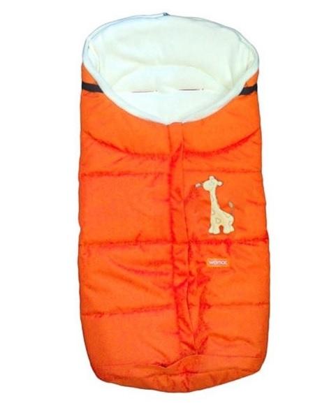 Спальный мешок в коляску №12 из серии Wintry polar флисовый, цвет – оранжевый