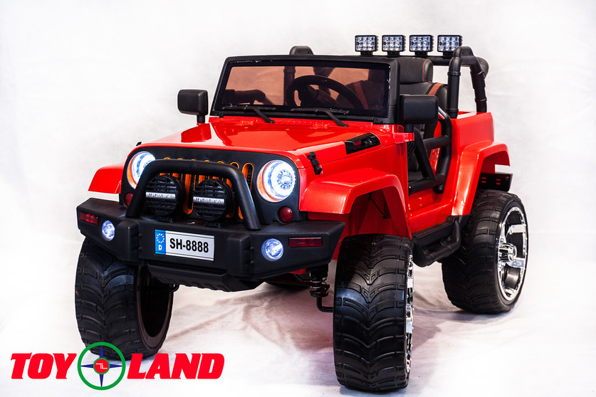 Электромобиль Jeep красныйЭлектромобили, детские машины на аккумуляторе<br>Электромобиль Jeep красный<br>