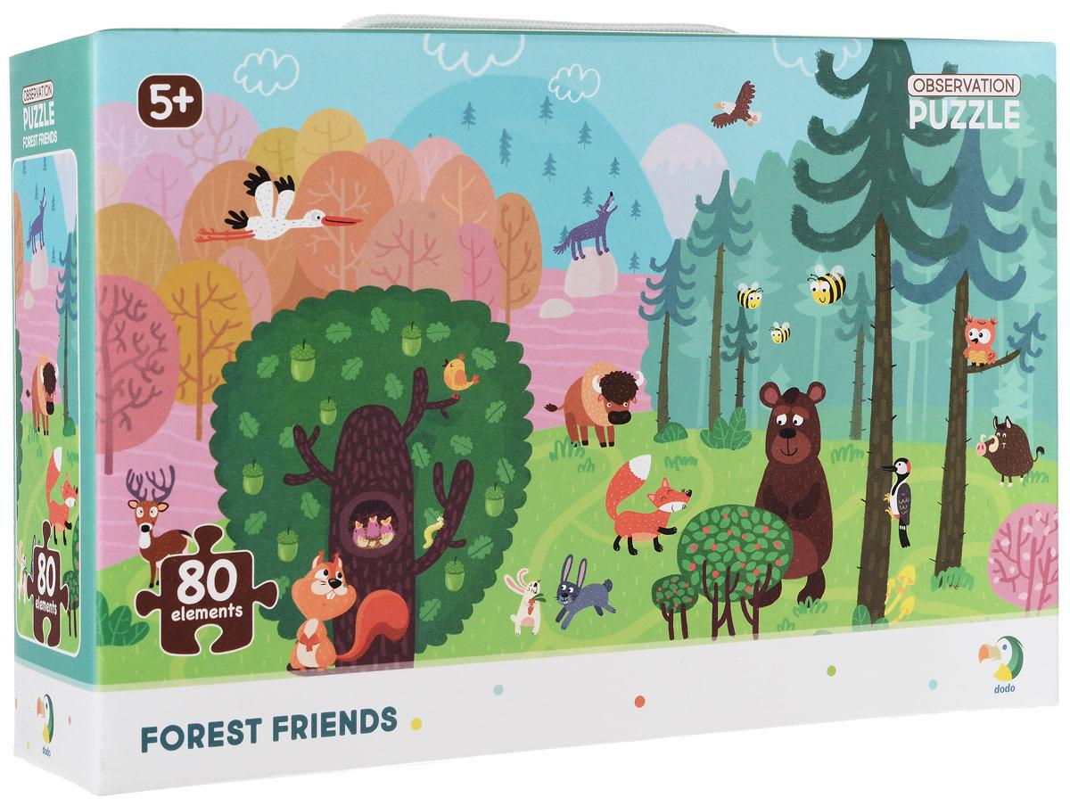 Пазл на внимательность - Лесные друзья, 80 элементов фото