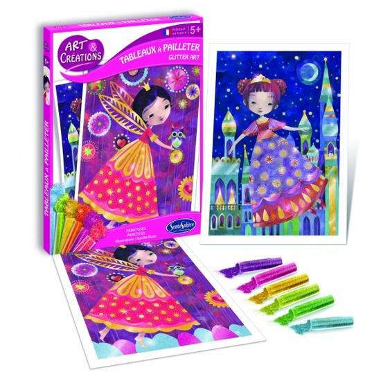 Купить Набор для детского творчества – Принцессы, с глиттером, SentoSpherE