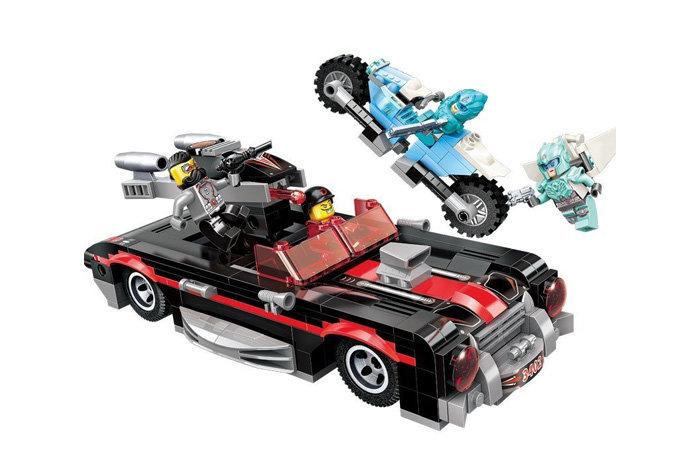 Конструктор с фигурками - Машина и мотоцикл, 371 деталь ) по цене 1 220