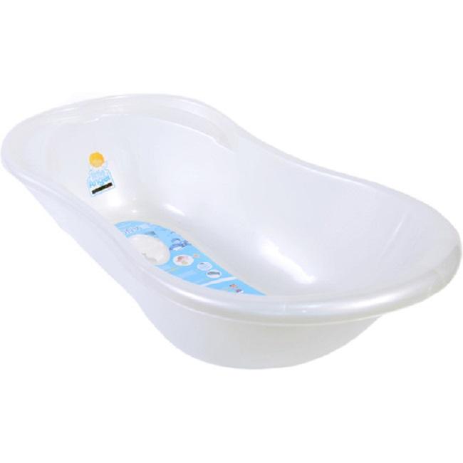 Ванночка детская – Ангел 84 см., с термометром, белый перламутрКупание ребенка<br>Ванночка детская – Ангел 84 см., с термометром, белый перламутр<br>