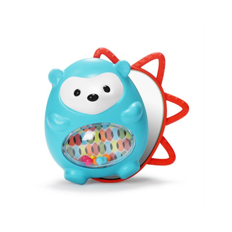 Развивающая игрушка с зеркальцем и прорезывателем - Ежик с сюрпризомДетские погремушки и подвесные игрушки на кроватку<br>Развивающая игрушка с зеркальцем и прорезывателем - Ежик с сюрпризом<br>