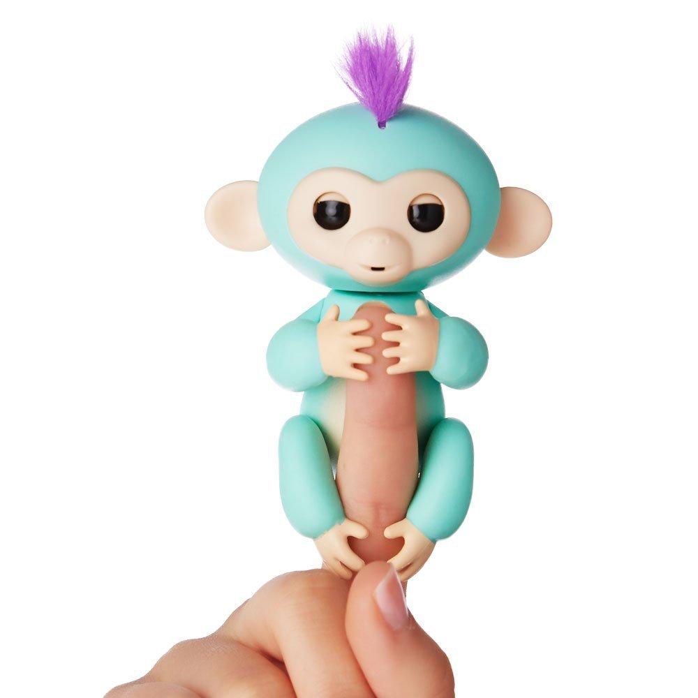 Купить Интерактивная ручная обезьянка Fingerlings WowWee – Зоя, зеленая, 12 см