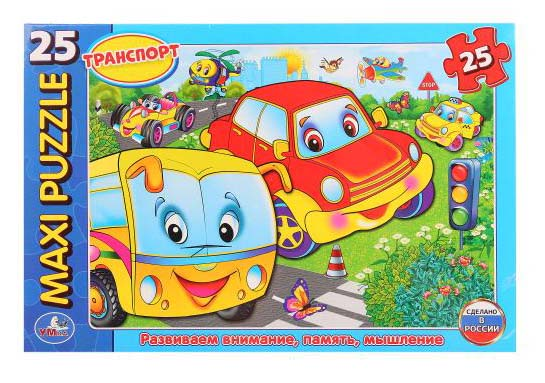 Макси-пазл – Машинки, 25 деталейПазлы для малышей<br>Макси-пазл – Машинки, 25 деталей<br>