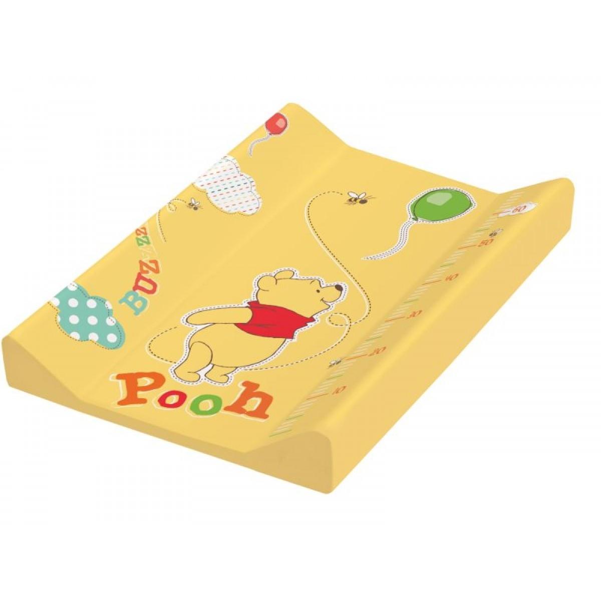Купить Пеленальная доска с жёстким основанием с меркой - Винни Пух, жёлтый 50 х 70 см, Okt