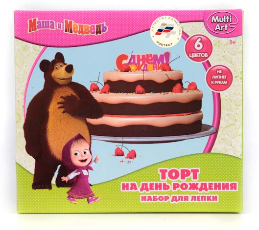 Набор Маша и Медведь - Тесто для лепки. Торт Multiart