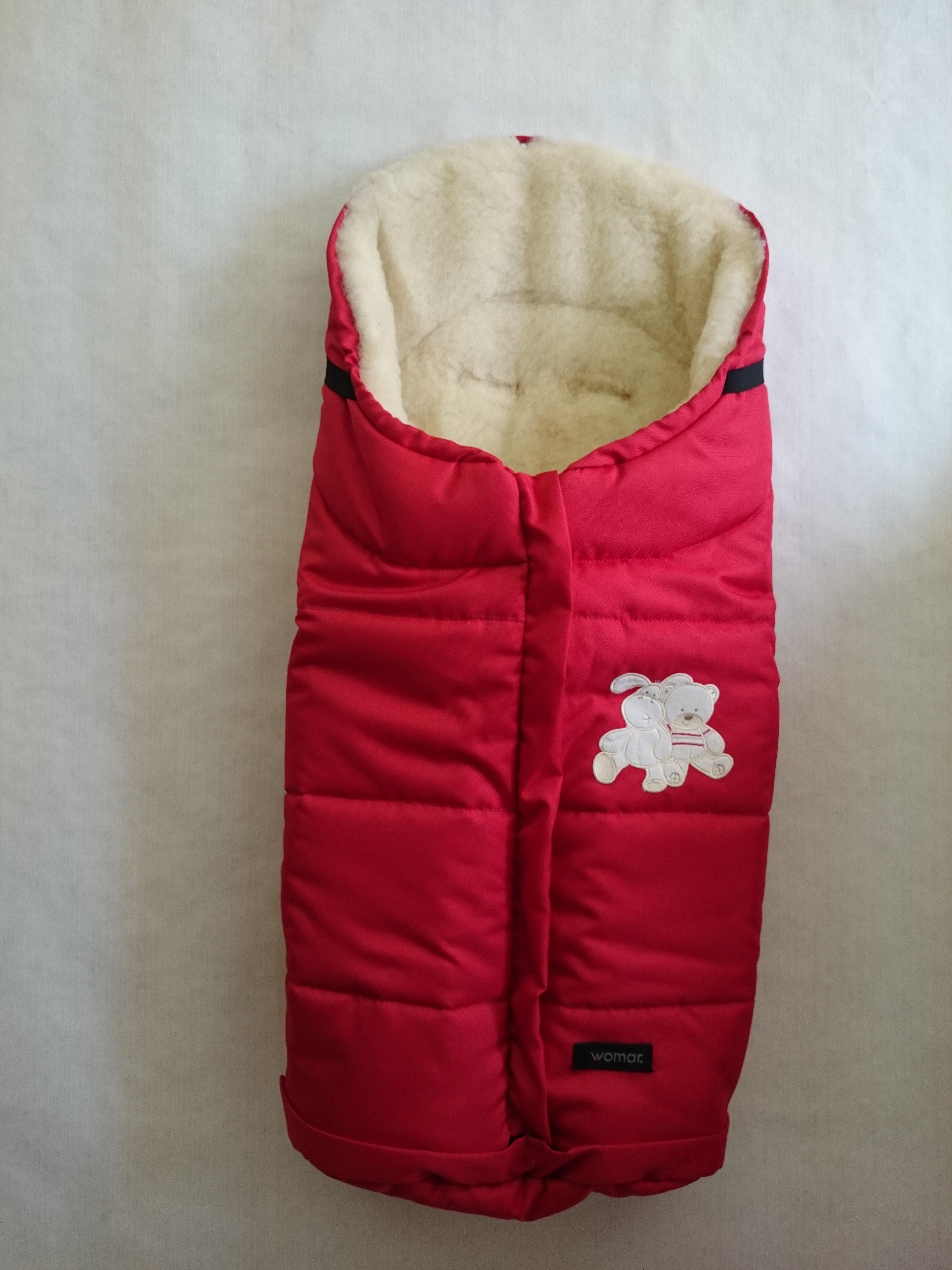 Спальный мешок в коляску №12 - Wintry, polar флисовый, красный